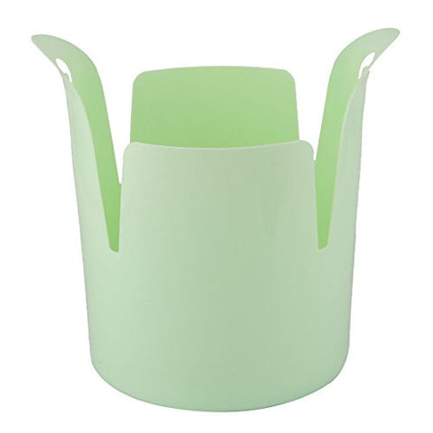 uxcell Plastic Family Office Wastebasket Rubbish Bin Garbage Trash Can Container Green