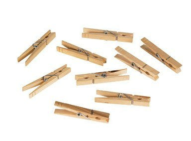 CLOTHESPINS SPRING WOOD