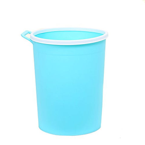Hflove Round Plastic kitchen Trash Can Storage Bcket /7 Colors 8.2L (Sky blue)