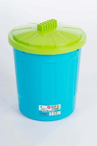 Wham Fun Bin 8 Litre Blueberry Base/Lime Lid by Wham