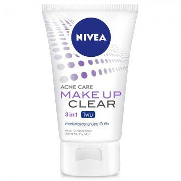 Nivea Makeup Cleansing Acne Clear 3in1 100 g.,pack 3