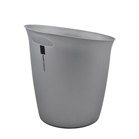 Hflove Plastic Trash Can Hand-held Trash Can Kitchen Trash Can,5.5L(Gray)