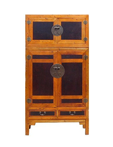 Chinese Tall Stack Compound Cabinet Armorie Wardrobe Acs1343