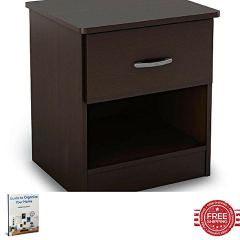 Nightstand Storage Cabinet Elegant Classic Kids Children Toddler Bedroom Chest Furniture Shelf Drawer Cupboard Home Indoor Store Organizer & Ebook by Easy 2 Find.