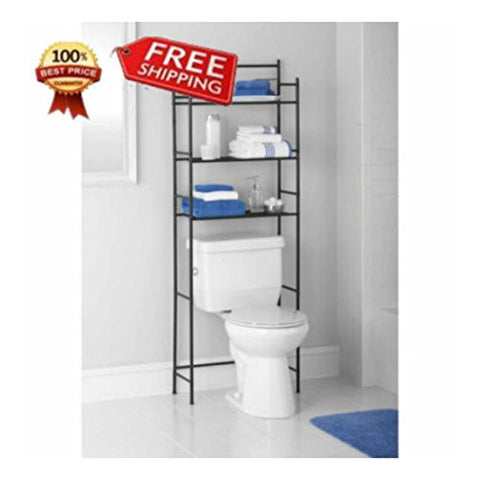 3 Shelf Space Saver Bathroom Storage Organizer Rack New Above Edge Over Toilet O Top Selling item