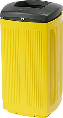 Extra Large Plastic Trash Can 60L (Yellow)