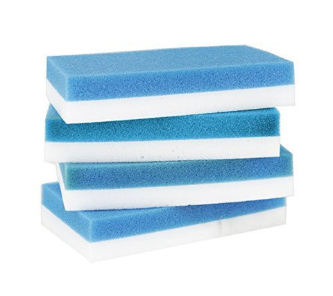 Quick Eraser by Scrub-It cleans like Magic, 4 count (2 pack), Improved Design Provides Easy Cleaning to Remove Stains, Marks, Grime etc. from all over the house.