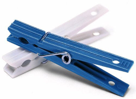 Whitmor  Plastic Clothespins, Blue and White, Set of 50