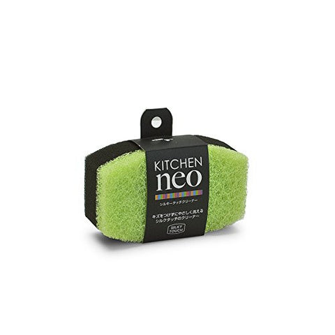 Silky Non-scratch Kitchen Neo Sponge - Green 2pcs