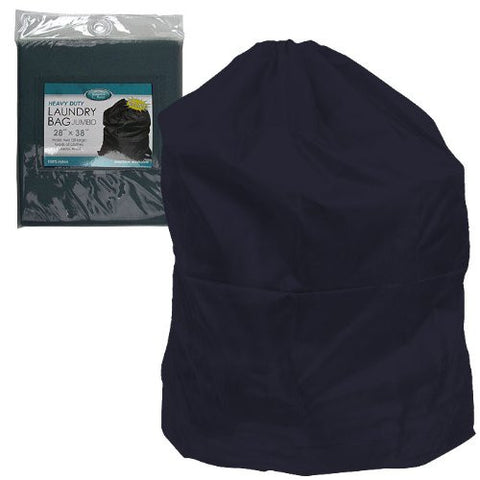 Heavy Duty Jumbo Sized Nylon Laundry Bag, Navy Blue