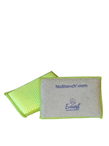 NoStench Sponge - 4 pack Antibacterial Microfiber Mesh & Terry Cloth Kitchen Sponges