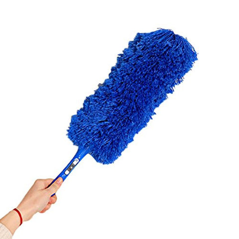 Binmer(TM) Magic Soft Microfiber Cleaning Duster Dust Cleaner Handle Feather Static Anti (Blue)
