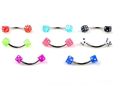 10PCS 18G Colorful 316L Stainless Steel 3mm Circulars Horsesheos Eyebrow Navel Nipple Lip Nose Tongue Rings Body Jewelry Piercings