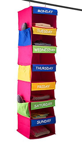 Saganizer DAILY ACTIVITY ORGANIZER Kids 7 shelf portable closet hanging closet organizer great closet solutions