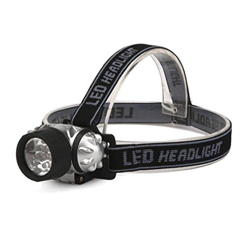12 LED Headlight,Tuscom@ Adjustable and Elastic Headband Headlamp