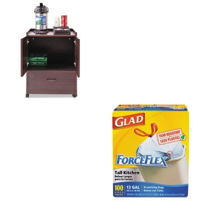 KITCOX70427VRT50119 - Value Kit - Vertiflex Mobile Deluxe Coffee Bar (VRT50119) and Glad ForceFlex Tall-Kitchen Drawstring Bags (COX70427)