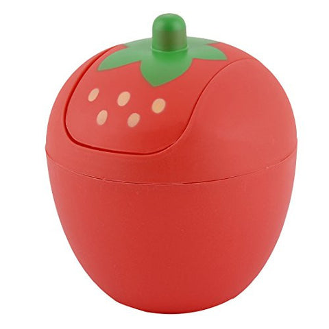 uxcell Plastic Kitchen Strawberry Shaped Waste Trash Garbage Seedcase Holder Bin Can Red