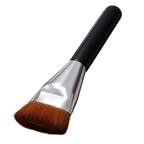 Flat Makeup Brush,Hemlock Makeup Kits Contour Palette Powder Brushes (Black)