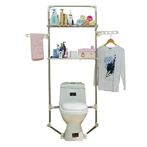 Baoyouni Contemporary Free Standing Bathroom Corner Shelf Toilet Rack Over-the-Toilet Storage