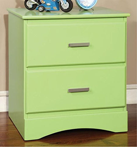 Furniture of America Colorpop 2-drawer Youth Nightstand (Green)