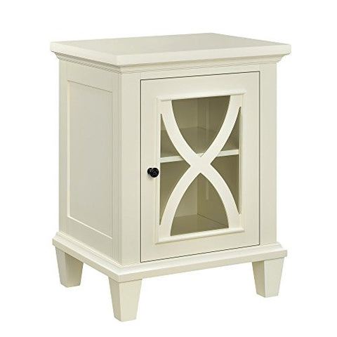 Ameriwood Home Altra Ellington Single Door Accent Cabinet, Ivory