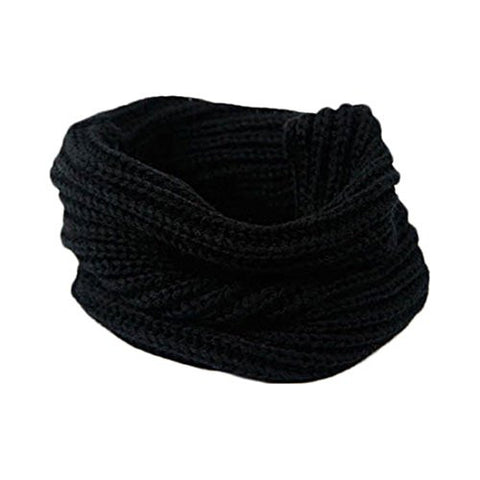 Circle Scarfs Knit,Hemlock Stylish Women Lady Warm Scarf Cowl Snood Scarves (Black)