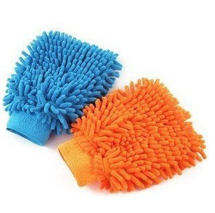 Aokin Microfiber Car Washing Cleaning Glove Wash Mitt, Set of 2 (Random Color)