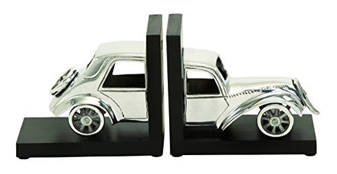 Deco 79 Aluminum Bookend Set, 7 by 6-Inch