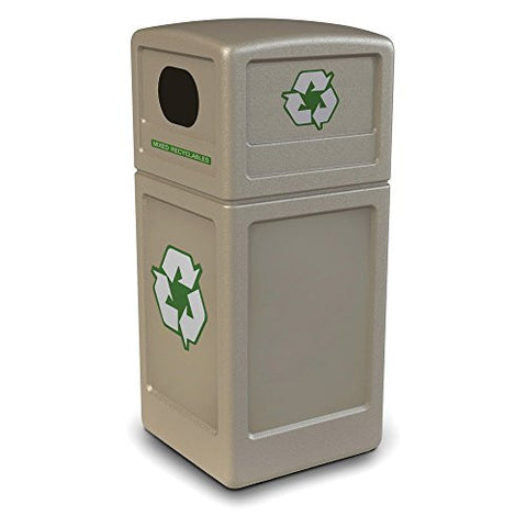 Commercial Zone Recycler 38 Gallon Beige Recycling Bin