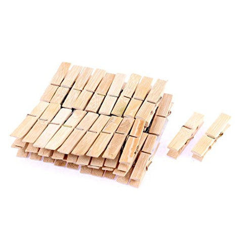 uxcell Laundry Clothes Pins Hanging Clips 40Pcs Beige