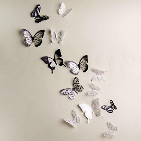 wall stickers home decor Livoty 3D Wall Stickers Butterfly Fridge Home Decoration