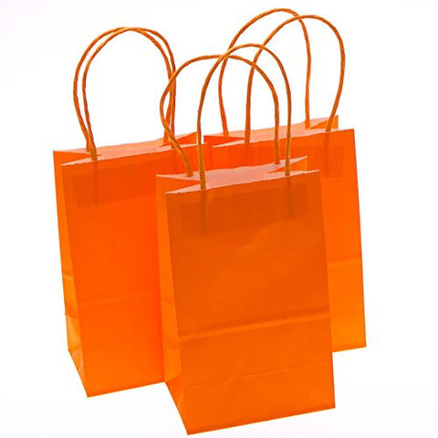 Small Orange Kraft Gift Bags