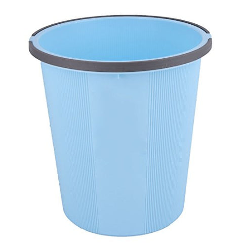 uxcell Plastic Household Rubbish Waste Bin Wastebasket Garbage Trash Can 24cm Height Blue