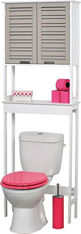 "EVIDECO 9904302 So Romantic 24.8"" x 70.5"" Free Standing Over the Toilet  Space Saver Cabinet"