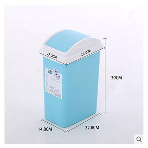 Fashion simple creative square toilet sitting room covered household kitchen trash can