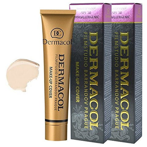 DERMACOL FILM STUDIO BARRANDOV PRAGUE Dermacol makeup cover SPF30 Foundation Derma call number 208 (box 2).