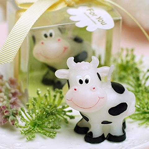 Adorable Cow Candle Baby Birthday Cake Topper Party Decoration