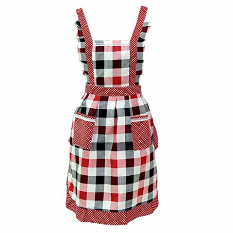 Prettymenny's Women Lady Restaurant Home Kitchen For Pocket Cooking Cotton Apron Bib (23)