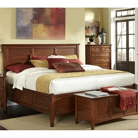 Westlake Storage Bed - Cherry Brown,King