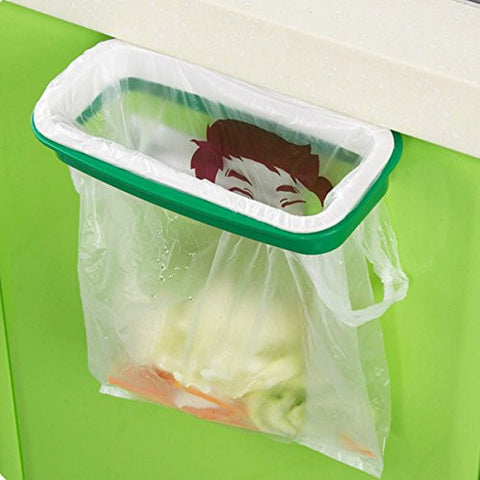 Plastic Hanging Garbage Rubbish Bag Holder Kitchen Cupboard Garbage Bag Storage Rack