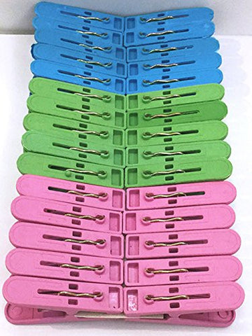 30Pcs/Lot Plastic Clothes Pegs Hanging Pins Hooks Clips Set Laundry Clothespins Clip (30)