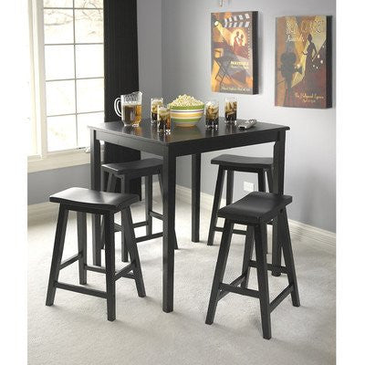 Target Marketing Systems Counter Height Belfast Table With Apron Trimmed Edges And Shaker Shaped Legs