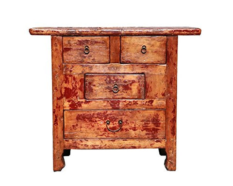 Rustic Lacquer Wood Country Side Cabinet As035