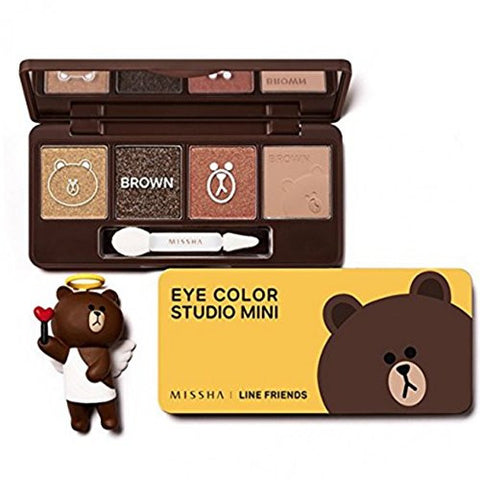 Missha Eye Color Studio Mini Line Friends No.2 Brown Brownie
