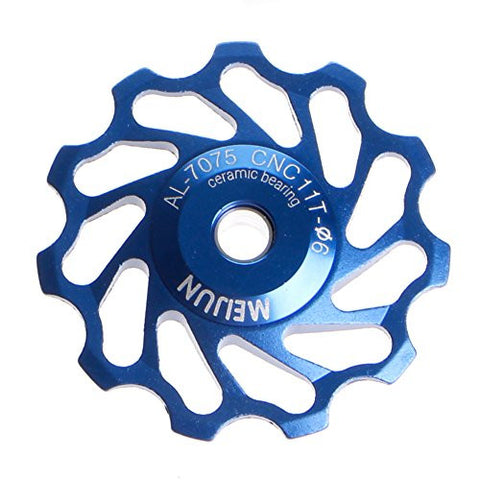 Stebcece 11Tooth MTB Ceramic Bearing Jockey Wheel Pulley Road Bicycle Bike Derailleur Hot (blue)