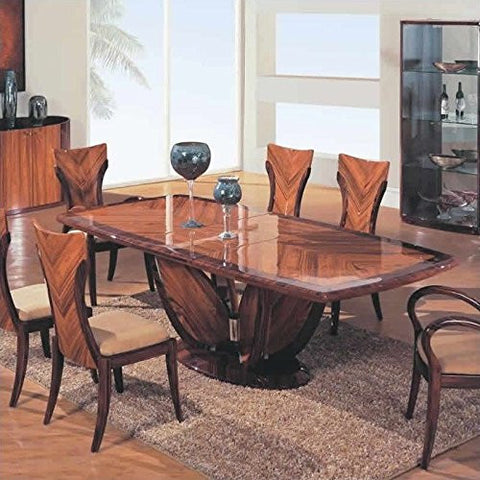 Global Furniture USA Rebecca Casual Dining Table in Cherry Finish