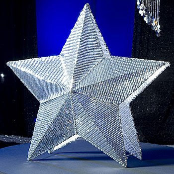 Silver Metal Sequin Star