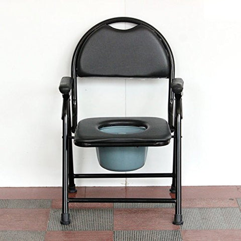 Steel Commode Bedside Commode The elderly pregnant women thicker foldable non slip toilet seat mobile toilet