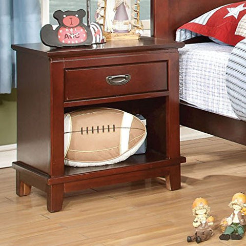 Furniture of America Adrian Inspired 1 Drawer Nightstand - Cherry