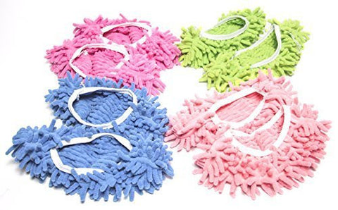 Colorful Mop Slippers - Microfiber Chenielle